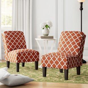Charlton Home Ferebee Slipper Chair (Set of 2)