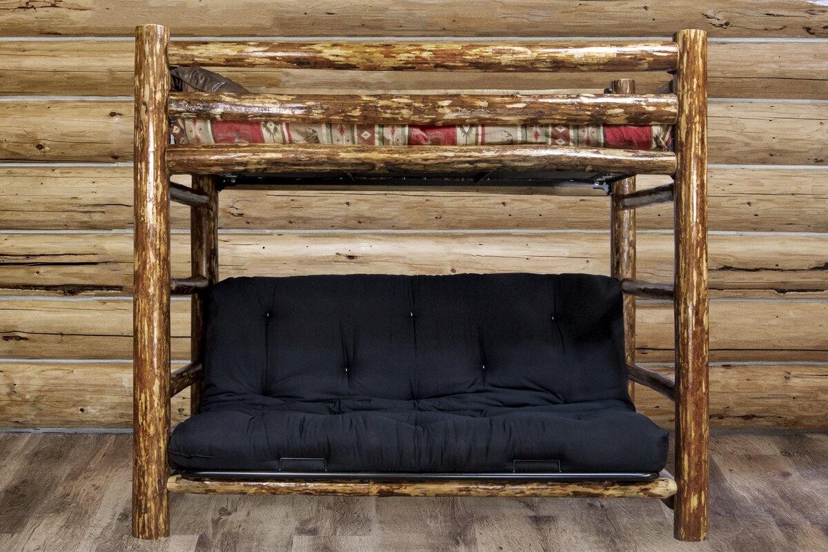 addison bunk bed 44   cotton twin futon mattress loon peak addison bunk bed 44   cotton twin futon mattress      rh   wayfair