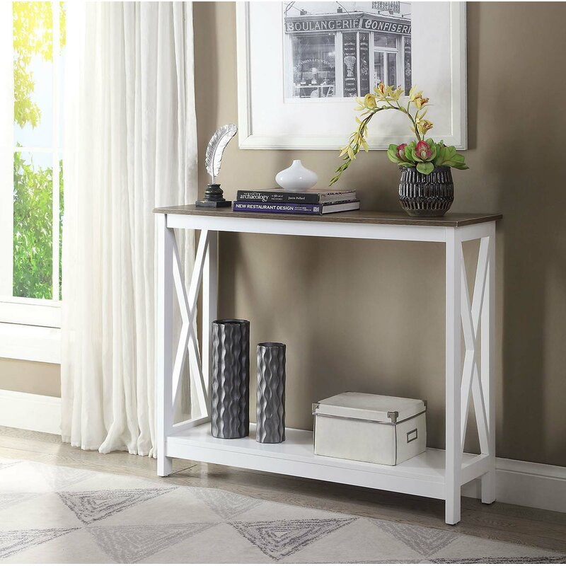 Beachcrest Home Stoneford 39 5 Console Table Reviews Wayfair