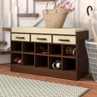Rebrilliant Wood Storage Bench with Cubbies