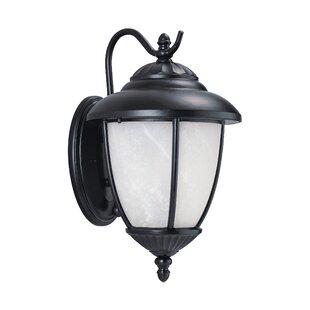 Atisha 100W 1-Light Outdoor Wall Lantern by Red Barrel Studio