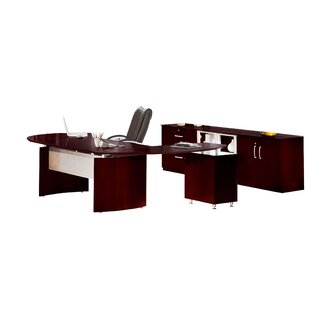 Mayline Group Napoli Series 2-Piece Standard Desk Office Suite