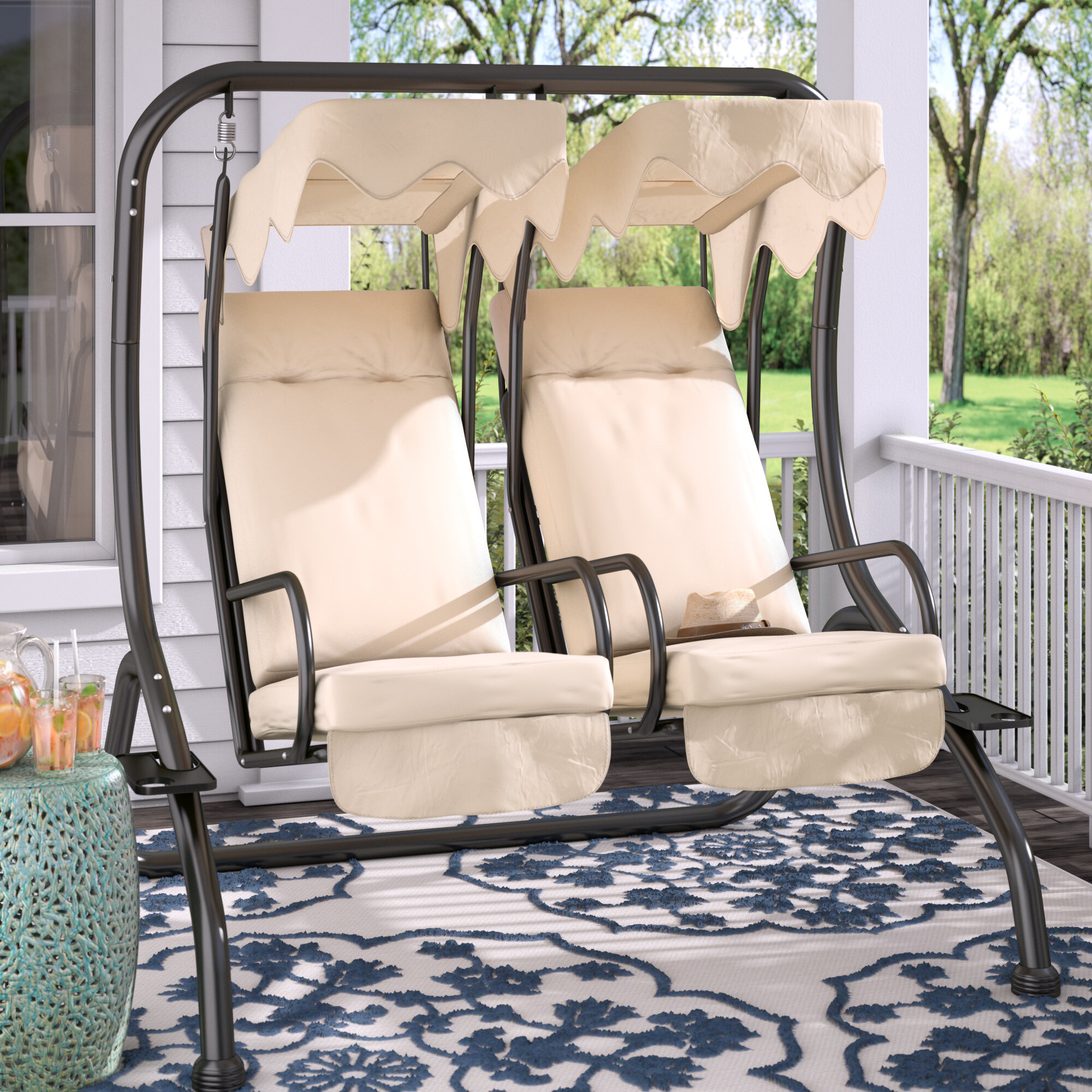 Genial Charlton Home Northbrook Patio Swing With Stand U0026 Reviews | Wayfair