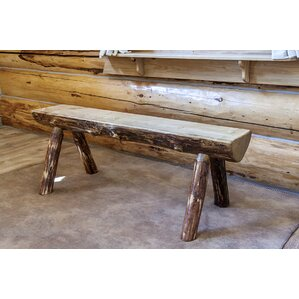Tustin Half Log Bench by Loon Peak
