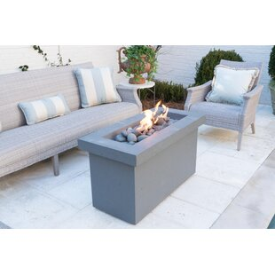 BayPointe Outdoors Urban Series Stone Propane Fire Pit Table