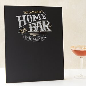 Personalized Bar Menu Chalkboard