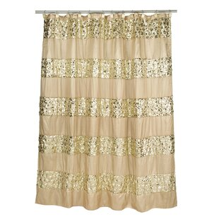 Gold Fabric Shower Curtain