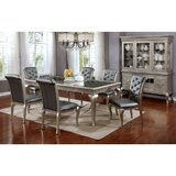 Suzan Contemporary 7 Piece Solid Wood Dining Set by House of Hampton®