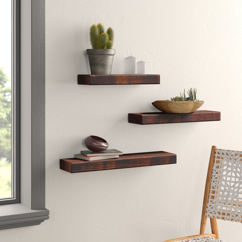 Ines True 3 Piece Wall Shelf Set
