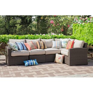 Erwin 5 Piece Sectional Seating Group with Cushions