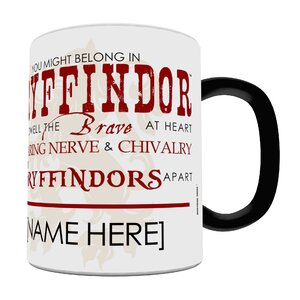 Harry Potter Sorting Hat Gryffindor Personalized Heat Sensitive Coffee Mug