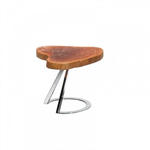 Braddy Heart Root Top Wooden End Table
