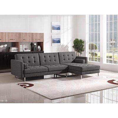 Diamond Sofa Opus Right Hand Facing Sleeper Sectional