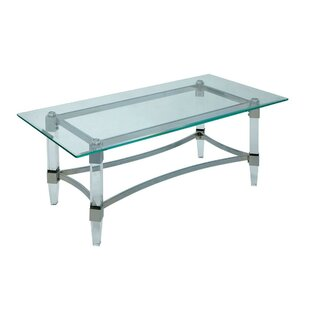 Missouri Contemporary Glass Top Rectangular Coffee Table