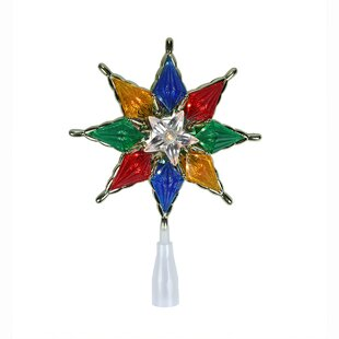07 star christmas tree topper with clear lights