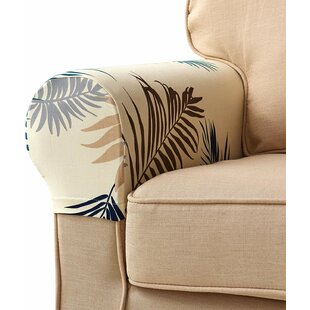 Leaves Spandex Sofa Arm Slipcovers (Set Of 2) By Symple Stuff