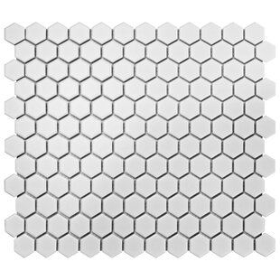 Retro Random Sized Porcelain Mosaic Tile