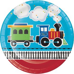 All Aboard Train Paper Plate (Set of 24)