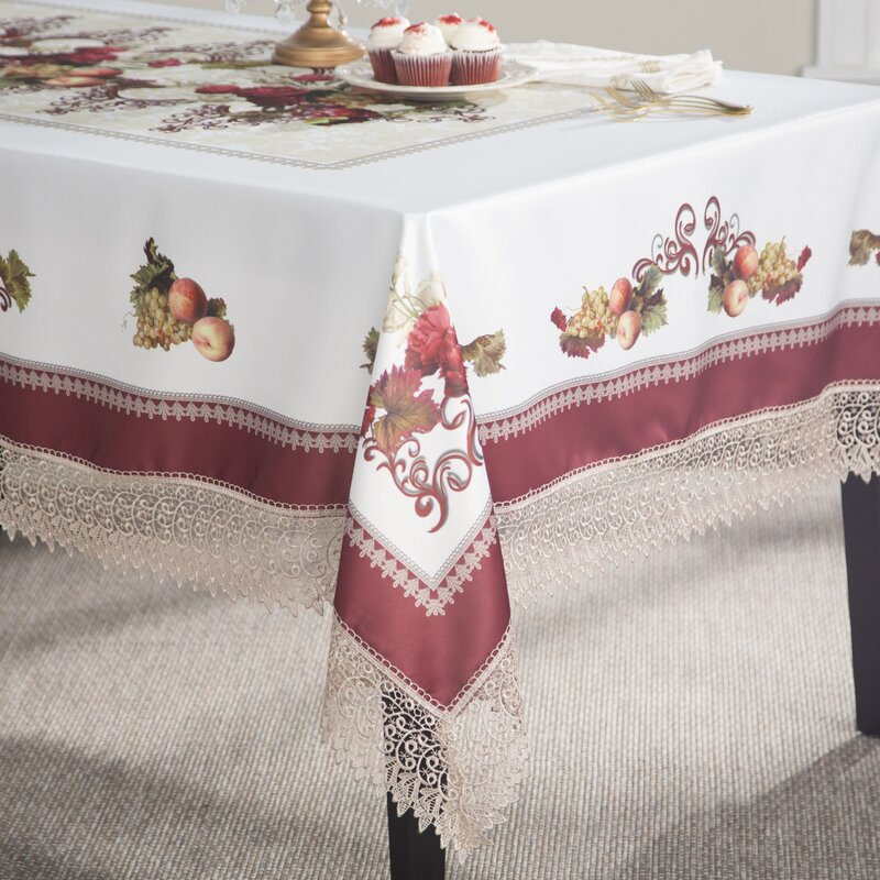 Akins Tablecloth With Lace Trimming