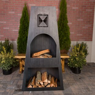 Ember Haus Fire Knight Steel Wood Burning..