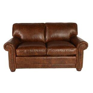 Jakey Leather Loveseat by ..