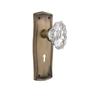 Chateau Interior Mortise Door Knob with Prairie Plate by Nostalgic Warehouse
