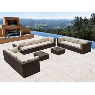 Brayden Studio East Hope 12 Piece Sectional Set with Cushions