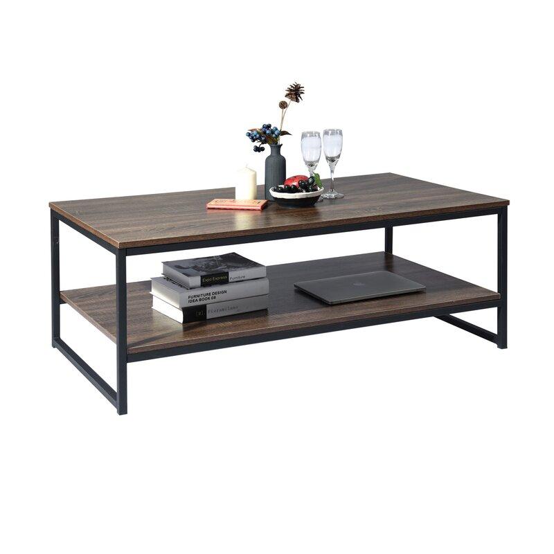 Williston Forge Katharyn Frame Coffee Table With Storage Reviews Wayfair