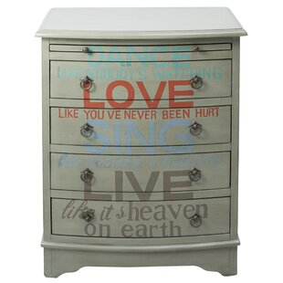 Byram Words of Wisdom 4 Drawer Accent Chest by Red Barrel Studio