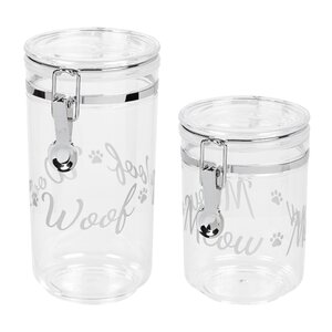 2 Piece Pet Treat Jar Set