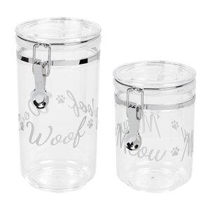 2 Piece Pet Treat Jar Set