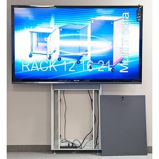 Plasma LCD Touch Screen Electric Lift Stand 90 Floor Stand Mount Flatscreen