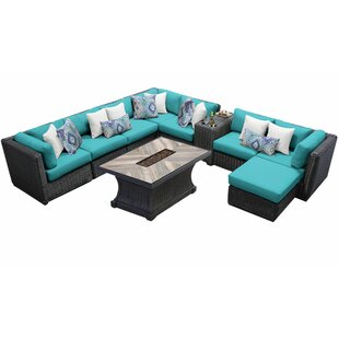 Fairfield 10 Piece Sectional Seating Group with Cushions