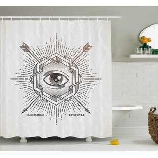 Dayne Mystic Third Eye Symbol Single Shower Curtain