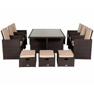 Wren 6 Seater Dining Set With Cushions By Sol 72 Outdoor