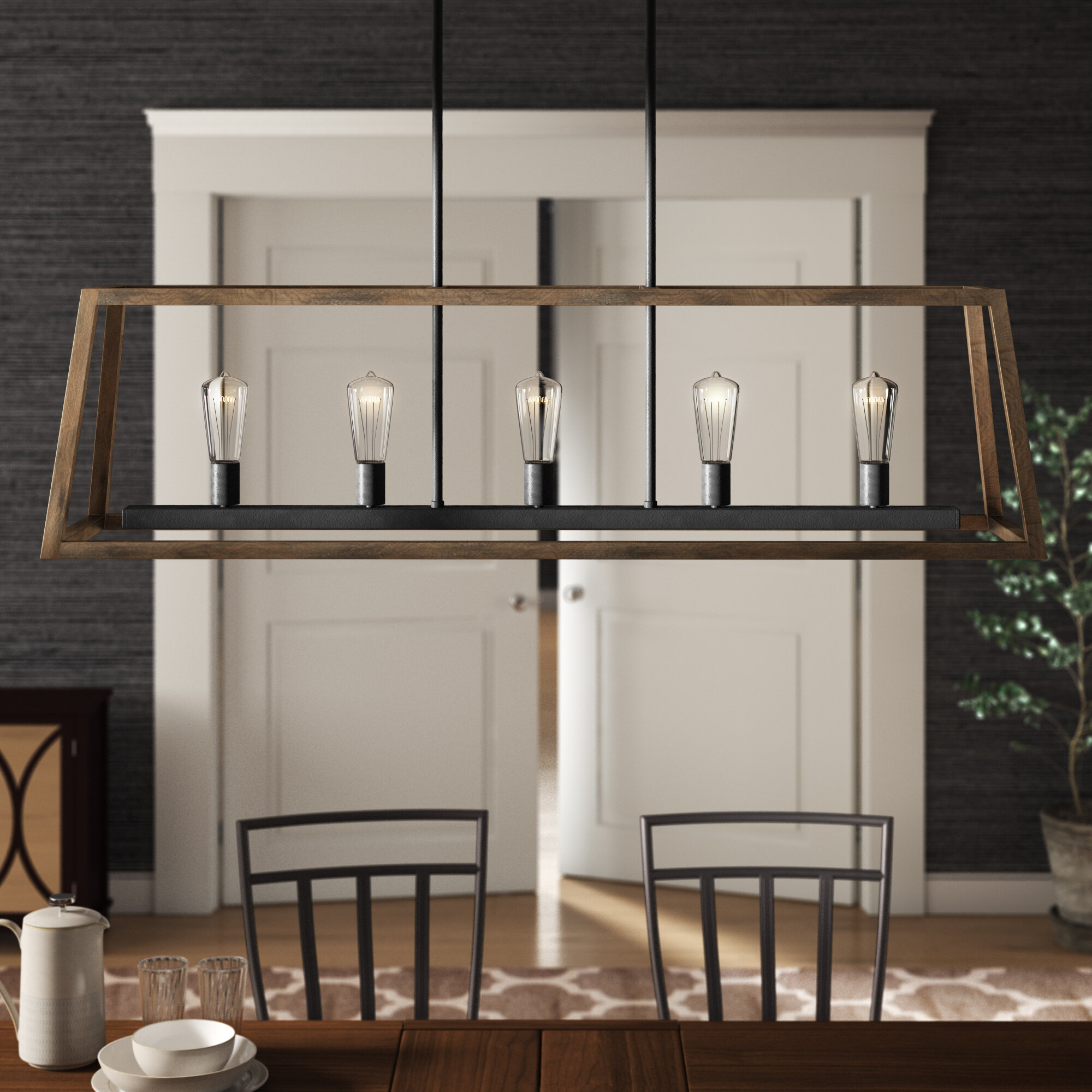 Natarsha 5 light kitchen island pendant