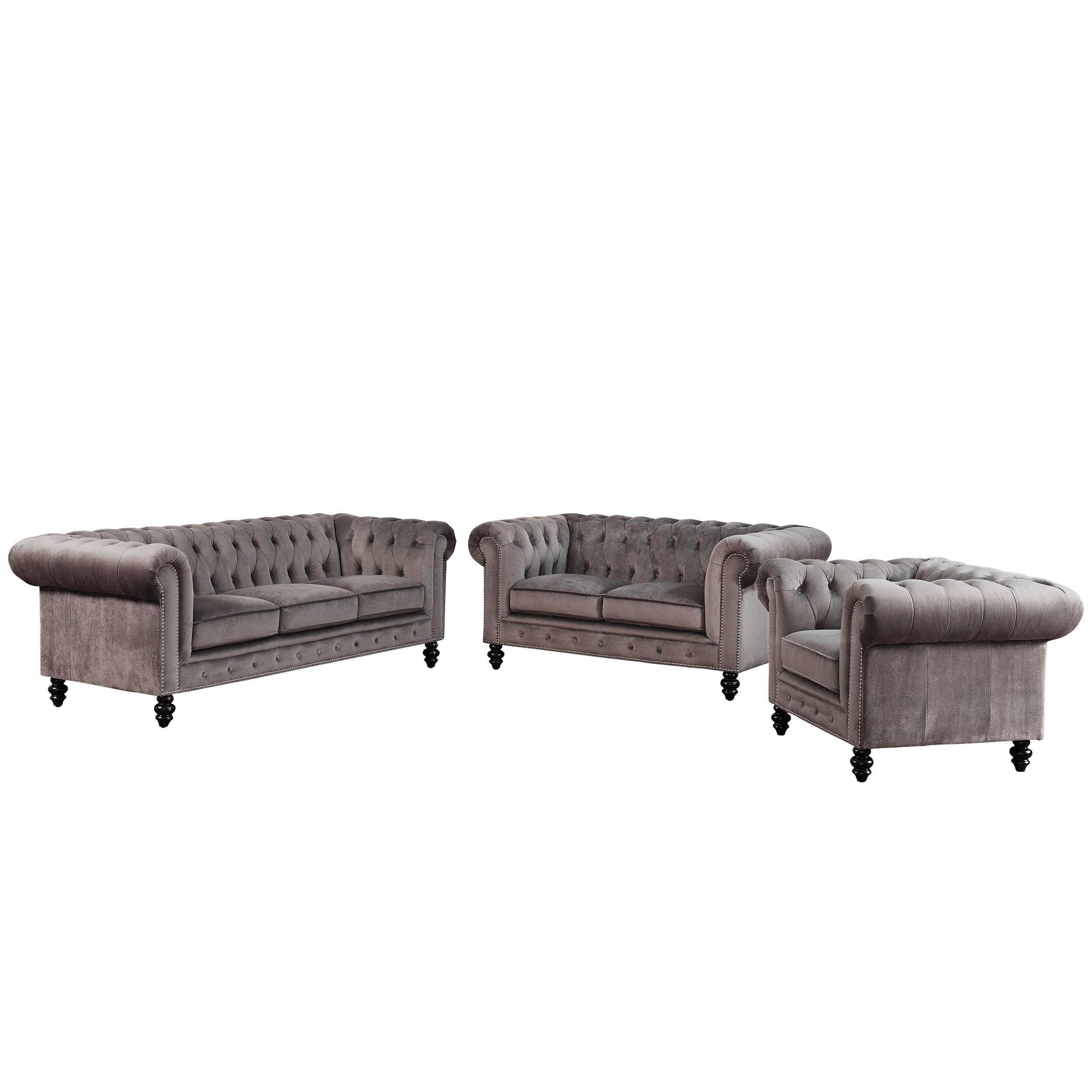 Mistana Brooklyn 3 Piece Leather Living Room Set Reviews Wayfair