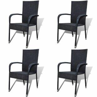 black rattan dining chairs wayfair co uk