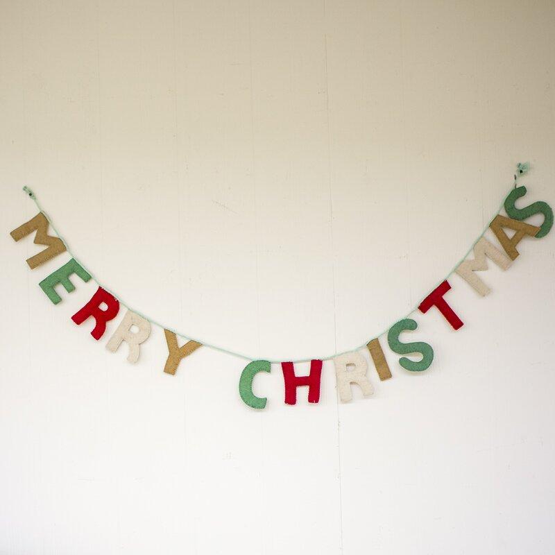 merry christmas banner decor