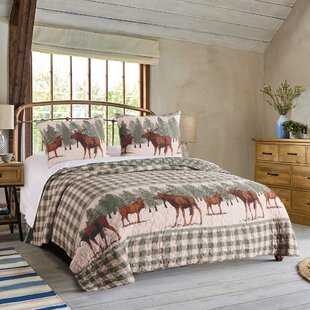Castle Moose Reversible Quilt Set