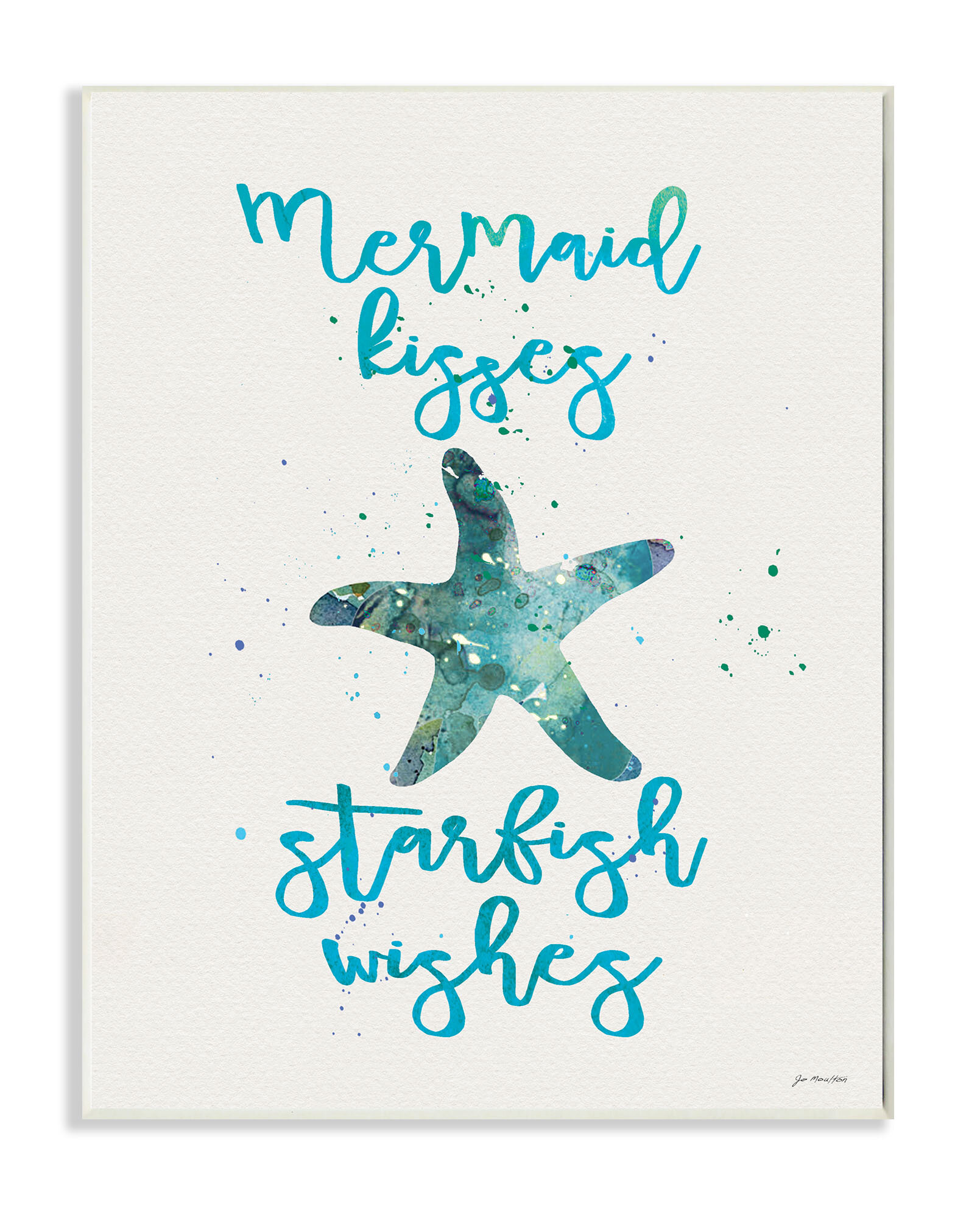 Stupell Industries Mermaid Kisses Starfish Wishes Stretched Canvas Wall Art  U0026 Reviews | Wayfair
