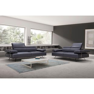 Leather Configurable Living Room Set by Bellini Italian Home