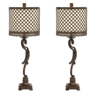 Venize Lattice 34 Table Lamp (Set of 2)