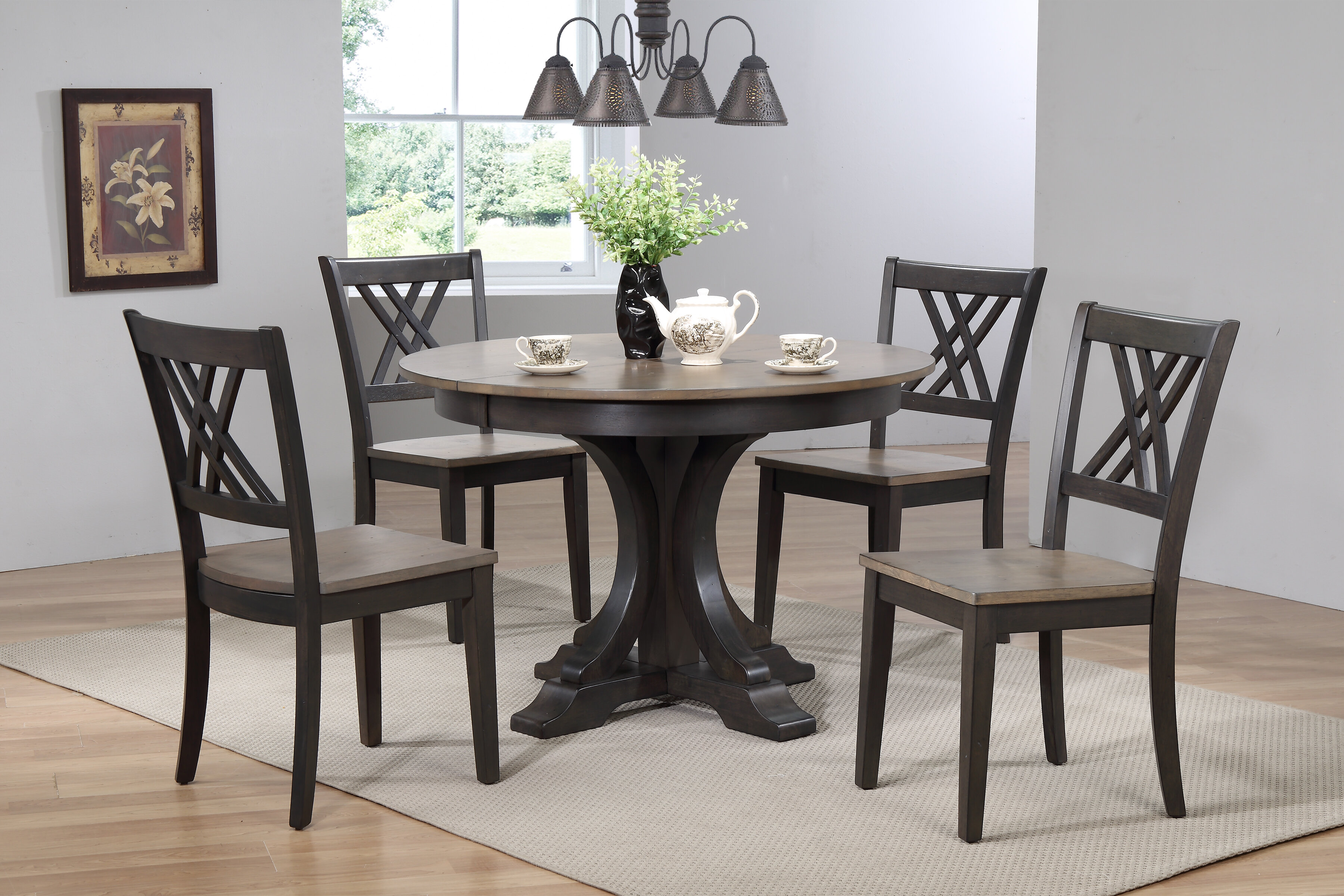 Grey Round Kitchen Dining Room Sets Tables You Ll Love In 2021 Wayfair