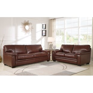 Darby Home Co Ehmann 2 Piece Leather Livi..