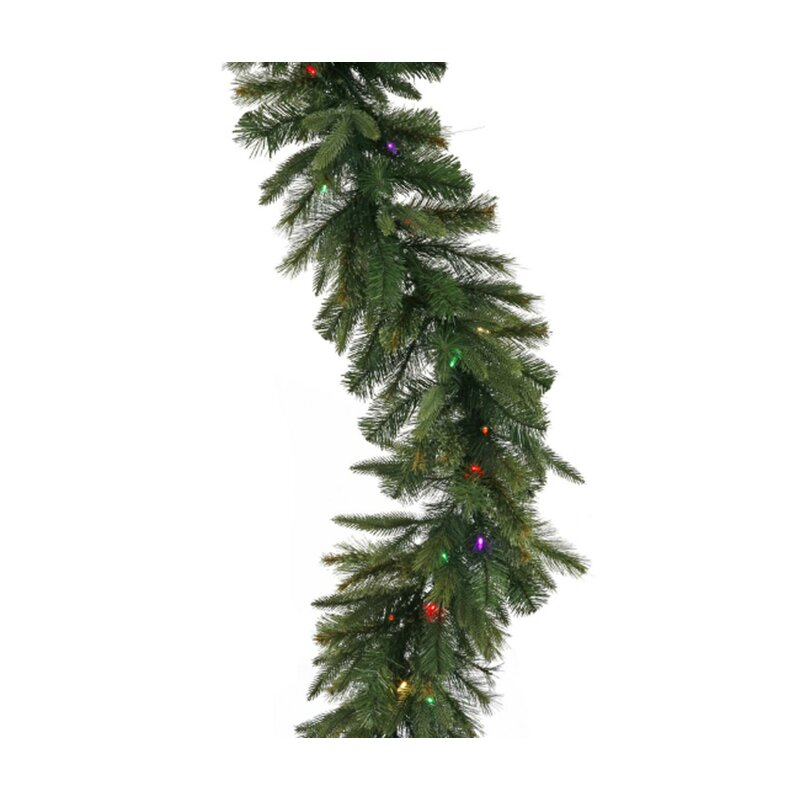 Mixed Cashmere Pine Artificial Christmas Garland with Lights - Vickerman Mixed Cashmere Pine Artificial Christmas Garland With