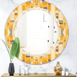 Geometrical Abstract II Triple C Modern  Contemporary Frameless Wall Mirror by East Urban Home
