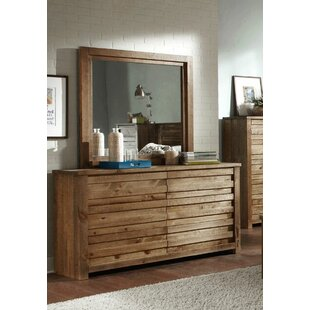Georgio 6 Drawer Double Dresser with Mirror