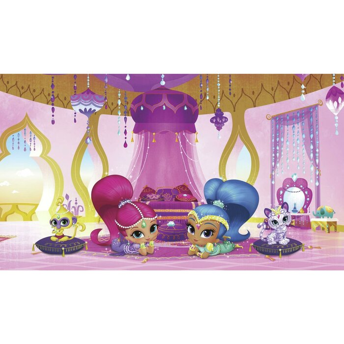 Shimmer And Shine Genie Palace Xl Chair Rail Prepasted 105 X 72 Wall Mural