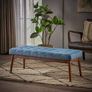 Berggren Mid Century Tufted Fabric Ottoman